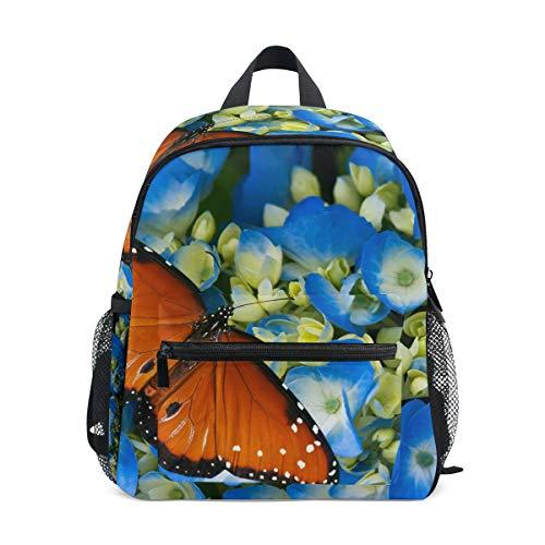 CPYang, zaino per bambini con fiori e farfalle, per scuola materna, per bambini e bambine