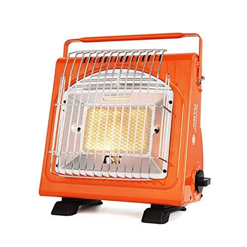 Opfury Calefacción de gas para camping, 1,7 kW, tanque de gas butano portátil, doble purpose mini calefactor de gas, calefactor para camping, tienda de campaña
