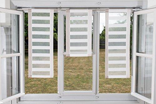 Design Miniflächen Scheiben Paneelen Set 3 Stück creme beige Streifen 30cm Breite