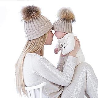 oenbopo 2PCS Parent-Child Hat Warmer, Mother & Baby...