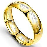 ERDING Unisex/Verlobungsring/Freundschaftsring/Edelstahlringe The Lord of One Ring 2019 Modeschmuck Herren Jungengeschenk Golden & Silver &...