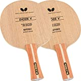 Butterfly Diode V Table Tennis Blade - All-Wood Chopper/Modern Defender Blade - Diode V Blade - Professional Table Tennis Blade - Available in FL and ST Handle Styles - Made in Japan