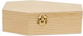 Small Halloween Coffin Box, 6 Inch, Pack of 2, Unfinished Wood, Use As Halloween Décor and Halloween Crafts, Pet Casket, Coffin Ring Box,