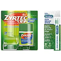 Zyrtec Allergy Relief Tablets 70 ct & Benadryl Itch Relief Stick
