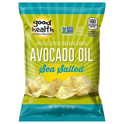 Good Health Kettle Style Potato Chips, Avocado Oil, Sea Salt, 1 oz. Bag, 30 Pack