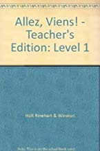 Allez, Viens! - Teacher's Edition: Level 1 (French Edition) 2 Tch edition by DeMado, Rongieras d'Usseau (2002) Hardcover