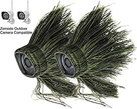 Wasserstein Ghillie Skin Compatible with Zmodo Outdoor Wireless Smart HD Security Camera (2 Pack)