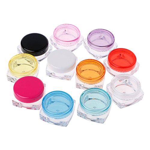 10 piezas pequeña botella de crema transparente 5g caja cosmética tarro de maquillaje caja de sombra de ojos