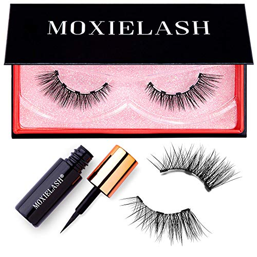 MoxieLash Wifey Lash Kit - Mini Magnetic Liquid Eyeliner for Magnetic Eyelashes - No Glue & Mess Free - Fast & Easy Application - Set of Wifey Lashes & Instructions Included