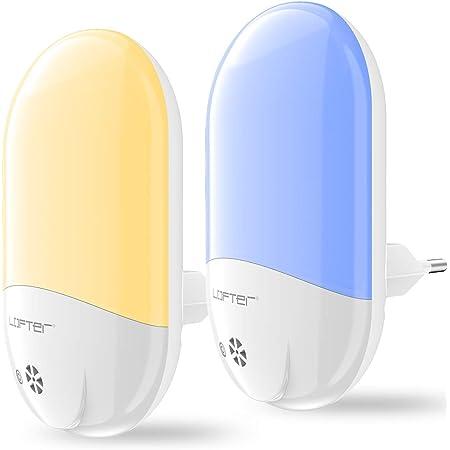 Veilleuse Enfant LED LOFTer Veilleuse Prise Electrique Multicouleur Automatique Plug-And-Play Veilleuse Secteur Avec Capteur Crépusculaire (2 pièce)