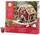 Gingerbread House Kit Addition; Festive Reindeer Barn. Ready-to-Decorate - Includes Pre-assembled...