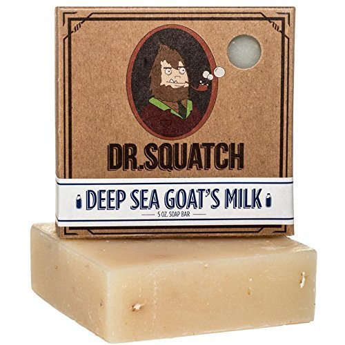 Deep Sea Goat's Milk Soap - Oatmeal Goat Milk Soap Bar for Dry Skin and Eczema - Exfoliating and Moisturizing with Organic Oils by Dr. Squatch, 1 Count