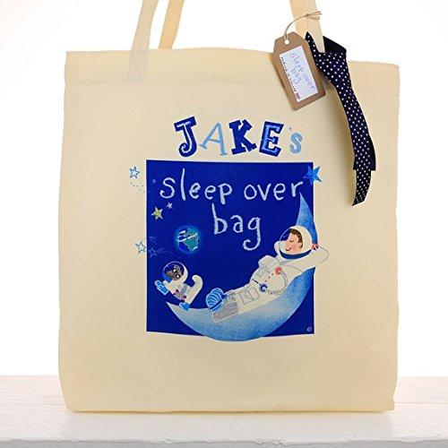 personnalisé enfant Astronaute Espace Sleepover Sac pendant la nuit Sac garçons Bagage à main sac fourre-tout Cadeau