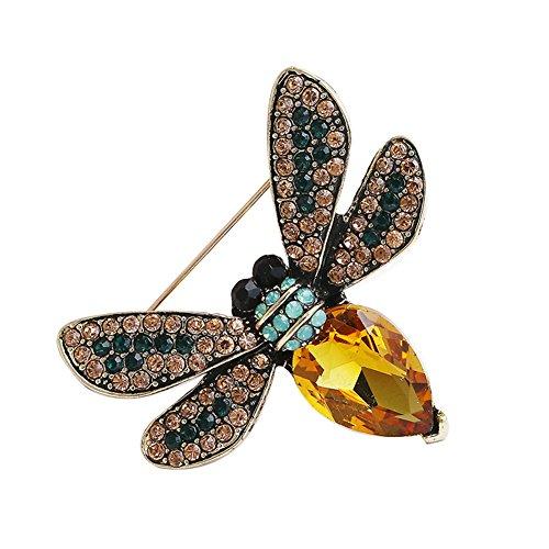 LAMEIDA 1 PCS Elegante Moda Broches Pines Forma Cristalina Colorida de la Abeja Bufandas Chal Clip Broches de PCSa Mujeres Señoras Chicas
