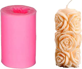 3D Candle Mold, Cylindrical Flower Silicone Mold, Used to Make Beeswax Candles, Soap, Bathroom Bombs, Crayons, Handmade So...