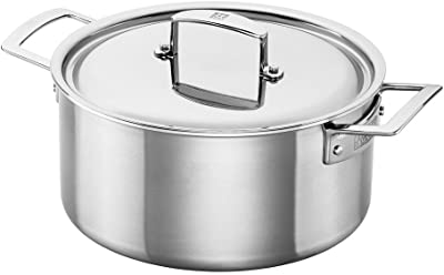 4 Quart Sauce Pot Ybmhome Classic Stainless Steel/Chefs/Induction Compatible Sauce Pot Covered/Multi-Purpose Cookware/with Encapsulated Base H4LH