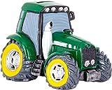 Brubaker Lustige Traktor Spardose Grün - 13 x 17 cm - Bauernhof Figur Sparschwein