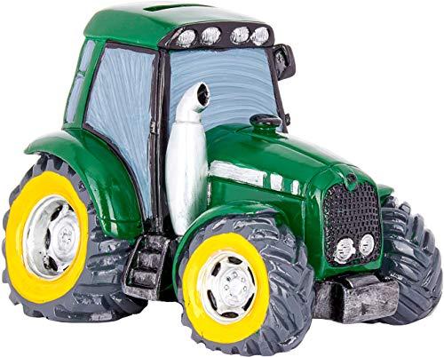 Brubaker Traktor Spardose für Kinder - Grün - 13 x 17 cm - Trecker Sparbüchse