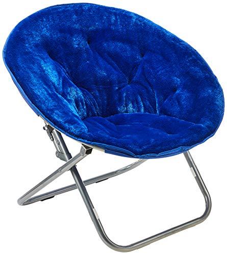 Urban Shop Faux Fur Saucer Chair, Navy - Amazon Exclusive
