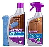 10. Rejuvenate Cabinet and Furniture Restorer 16oz with Mitt & Cabinet and Furniture Cleaner 24oz