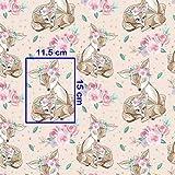 Pingianer 8,98€/m REH Rehkitz Rose 100% Baumwolle