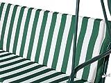 Beliani Stilvolles Hollywoodschaukel für Garten in Streifen weiß/grün Chaplin - 9