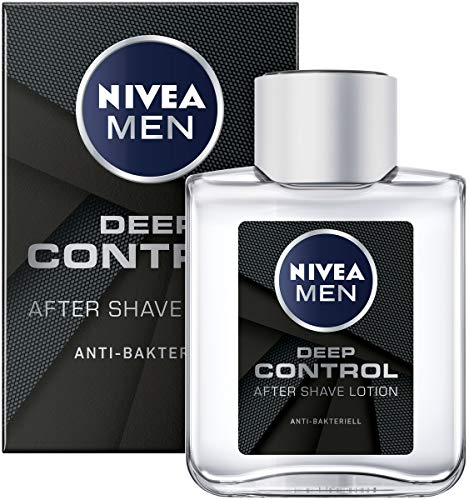 NIVEA MEN DEEP Control After Shave Lotion im 3er Pack ( 3 x 100 ml), antibakterielles After Shave, für die Hautpflege nach der Rasur