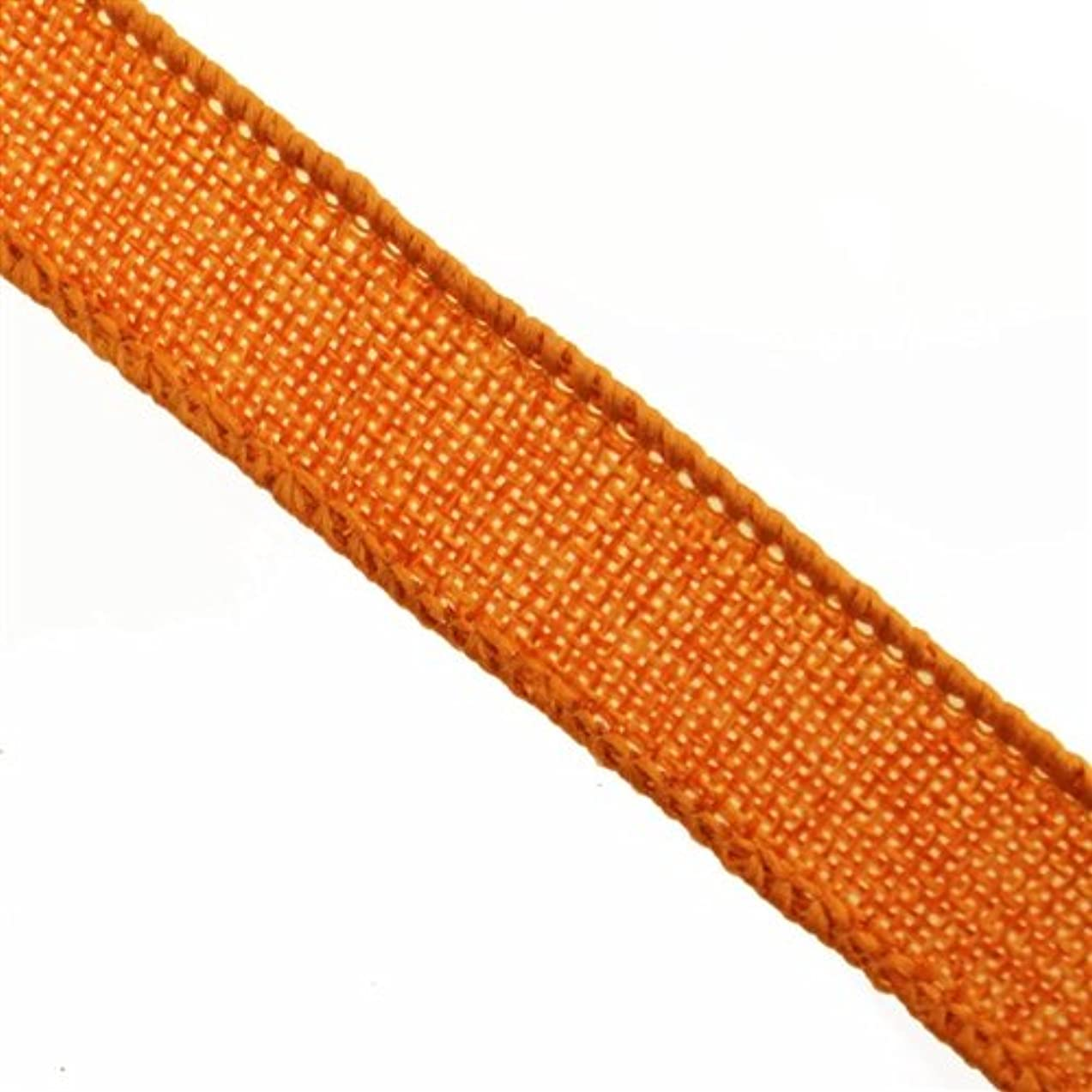 Firefly Imports Homeford Faux Burlap Jute Wired Ribbon, Orange, 7/8-Inch by 10-Yard