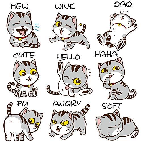 artaslf Cartoon Lovely Cats Adesivi murali Frigo Decorazione Divertente Gatti Decorazioni per la casa per Cameretta FAI DA TE Art Stikers Muraux Impermeabile 30x60cm