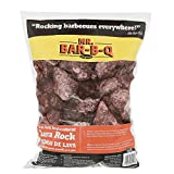 Mr. Bar-B-Q 05002 Natural Lava Rocks - Lava Rocks for Gas Grills Charbroilers - Reduces Flare Ups - Even Heat Distribution - 7 Lb. Bag of Lava Rocks
