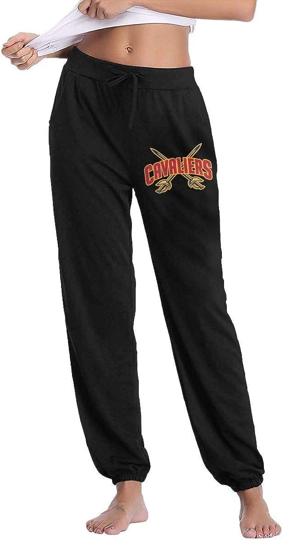 GavDon Women's ClevelandCavaliers Casual Sweatpants Yoga Jogger Lounge Sweat Pants with Pockets