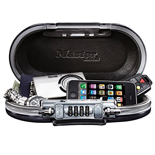 Master Lock 5900D Set Your Own Combination Portable Safe, 9-17/32 in. Wide, Gunmetal Grey