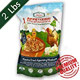 Dried Mealworms -2 LBS- 100% Natural Non GMO Mealworms...