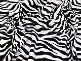Minerva Crafts Fleece-Stoff, Tiermuster, Schwarz und Weiß,
