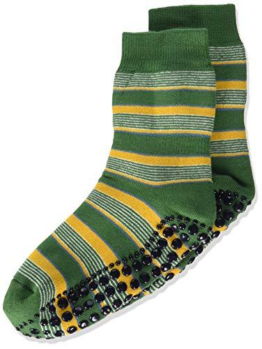 FALKE Unisex Kinder Mixedstripe Cp Socken Stoppersocken, grün (palme 7391), 31-34