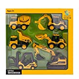 GOOD DESIGN FOR COLLECTING - 6 pieces construction vehicle set die cast car kit in 1 set with display box. Activities bulk alloy car model set play set. Different styles for your little one to play and collect, improving active ability. LEARNING THRO...