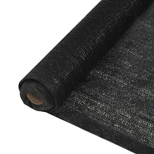 vidaXL Filet Brise-Vue PEHD 1x10 m Noir Pare-Vue de Jardin Terrasse Balcon