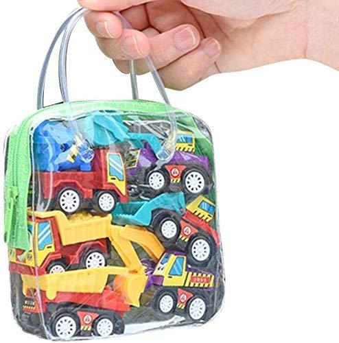 Mini coches de juguete, tire hacia atrás Ir de coches de juguete Juego Set, 6 Paquete Mini Surtido de vehículos de la construcción / el coche de bomberos / City Car Set de Juegos for el bebé niños peq