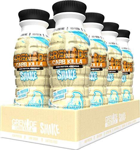Grenade Carb Killa White Chocolate High Protein Shake, 8 x 330 ml