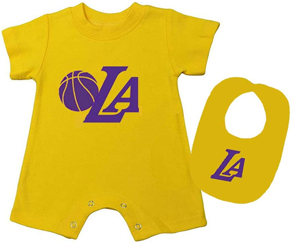 PandoraTees Baby Romper Bib LA 4 years warranty Free shipping anywhere in the nation Set -