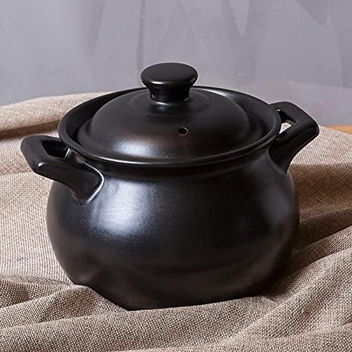 Keramik-Kasserolle für den Haushalt, Mini-Keramik-Suppentopf, offenes Feuer, hohe Temperaturbeständigkeit, Gas, kleine Milch, Reis, Kochen, Eintopftopf (Farbe: 1,5 l)