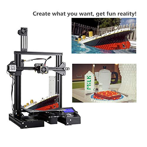 Creality 3D Printer Ender 3 Fantastic Desktop FDM DIY Kits for FLA, ABS, TPU. Made for Designers, Teachers and Creative Talents