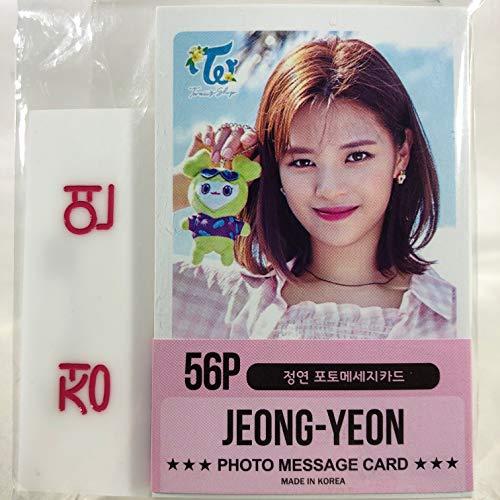 JEONGYEON ジョンヨン - TWICE トゥワイス グッズ / フォト メッセージカード 56枚 (ミニ ポストカード 56枚) + ネームプレート (名札) セット - Photo Message Card 56pcs (Mini Post Card 56pcs) + Name Plate [TradePlace K-POP 韓国製]