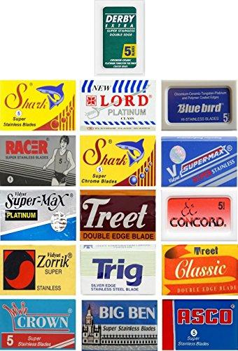 100 Quality Double Edge Razor Blades Sampler (16 different brands)