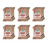Marque Amazon - Happy Belly - Biscuits d'épeautre piment des alpes, 6 x 133 g