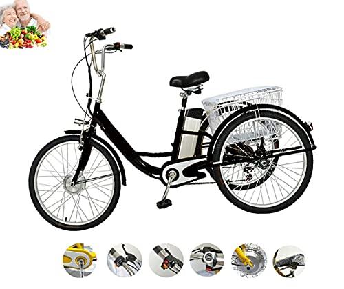 Triciclo eléctrico para Adultos de 3 Ruedas asistido por Motor 3 Ruedas...