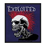 The Exploited Mohican Skull Patch Art Punk Rock Band Music Woven Sew On Applique