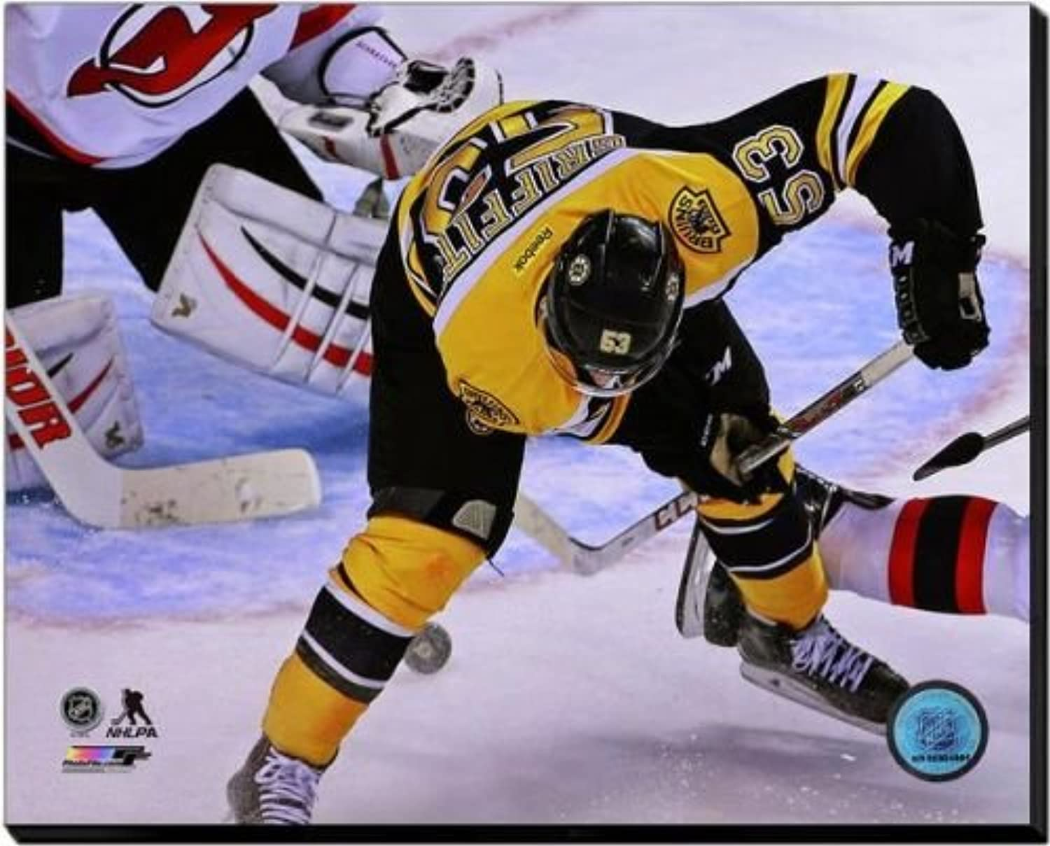 Boston Bruins Seth Griffith 2014-15 Action 16x20 Stretched Canvas