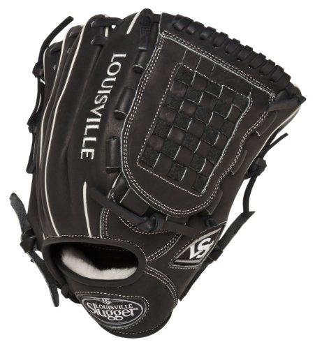 Louisville Slugger 12-Inch FG Pro Flare Baseball Infielders Gloves, Black, Left Hand Throw