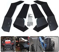 Extended FenderFlares MudFlaps for Polaris RZR-S900 RZR-S1000RZR-4900 2015-2019 UTV Front & Rear Mud Guards - Set of 4